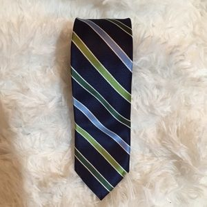 🛍3 for $9🛍 Chaps striped skinny tie blue/green